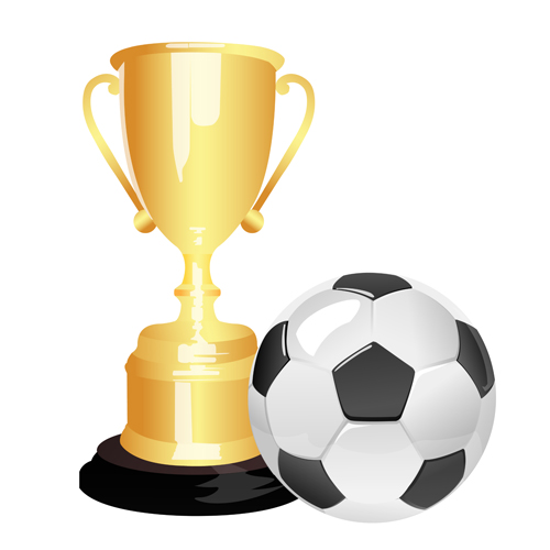 soccer ball and trophy from 247clipart.com